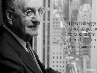 """""""The challenge is not to get people to talk, but to get them to listen"""""""