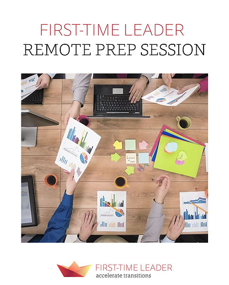 First-Time Leader Remote Prep Session Flyer
