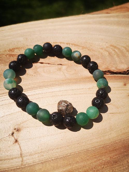 Lava, Green Druzy Agate