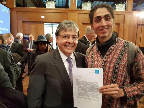 Carta al Señor Carlos Holmes Trujillo en su visita a Berlín