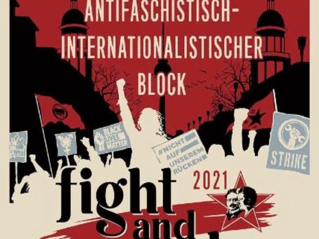 Antifaschistisch-Internationalistischen Block auf der Liebknecht-Luxemburg Demonstration