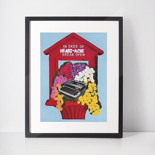 In Case of Heartache 8.5x11 Print