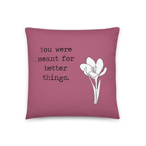 You Were Meant for Better Things Pillow