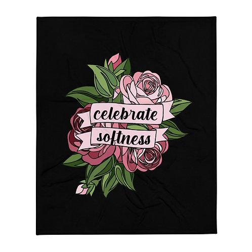 Celebrate Softness Black Throw Blanket