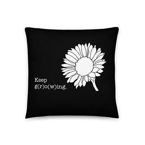 Keep Going Keep Growing Pillow
