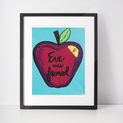 Eve Was Framed 8.5x11 Print