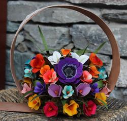 cerchio con fiori frontale