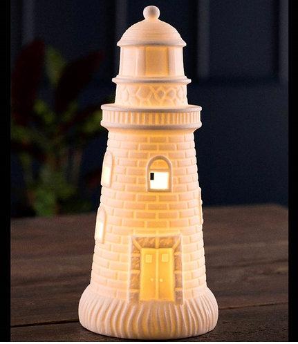 Belleek China Lighthouse with LED light