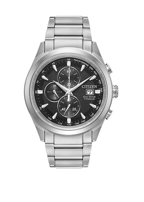 Citizen Eco Drive titanium chronograph watch