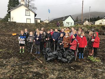 Pupils from Lochgoilhead Primary School.