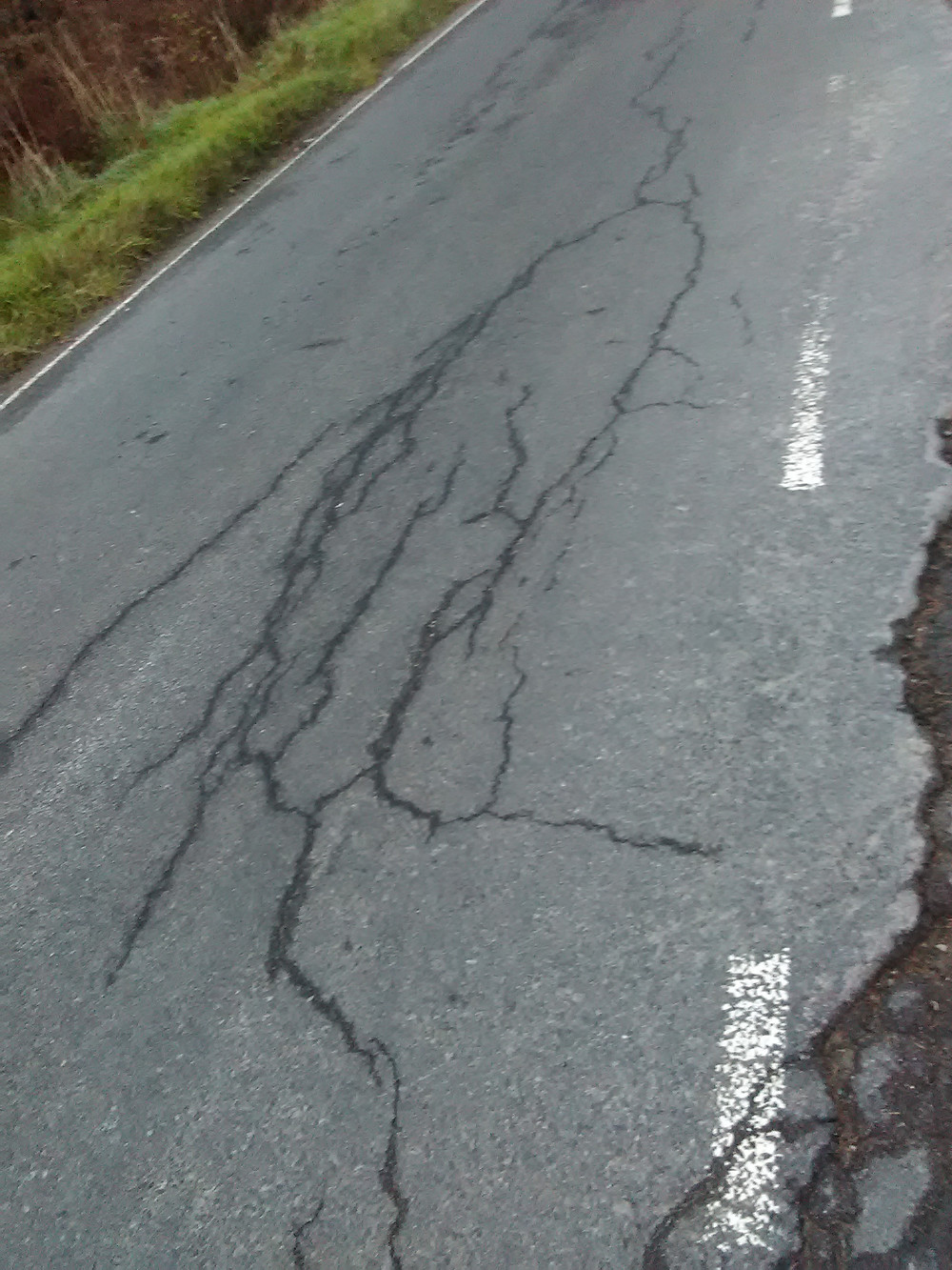 Road damage caused by Timber lorries