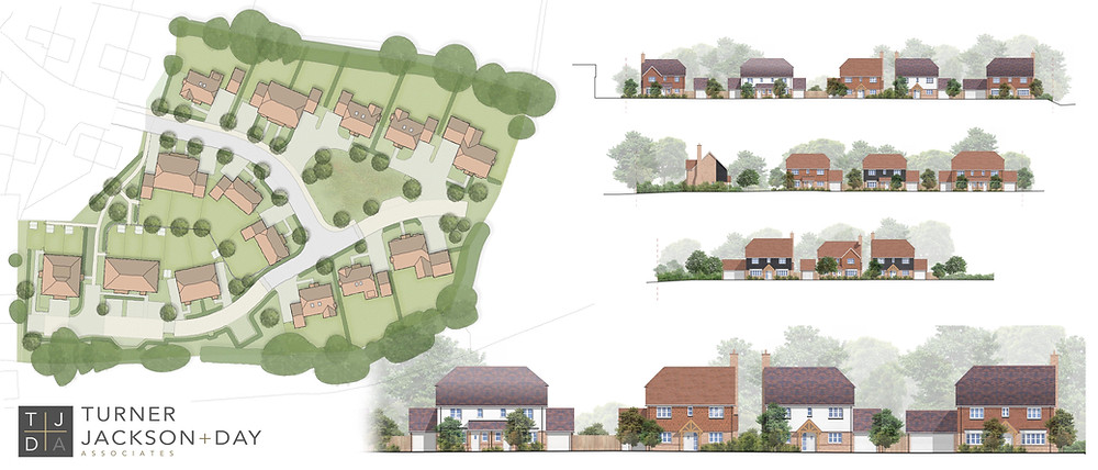 design for the development of 22 dwellings on a semi rural greenfield site in Ashford.