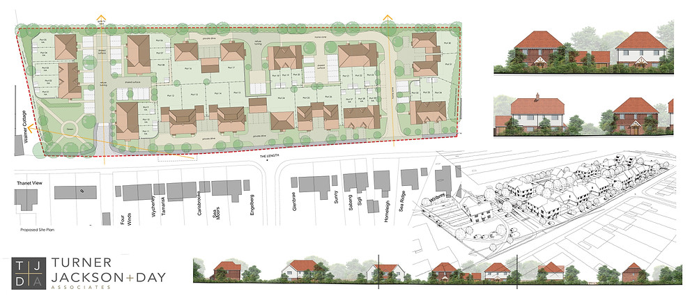 design for green field site in St Nicholas-at-wade, Kent
