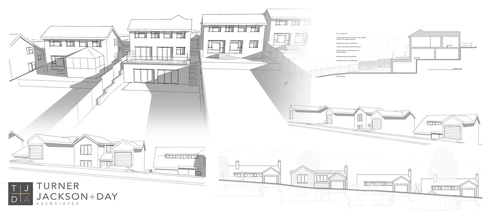 Planning granted for a large 2 storey front and basement level rear extension