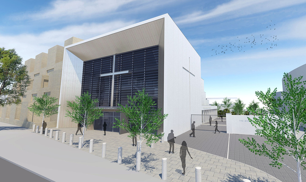 technical design for new-build place of worship and community hub