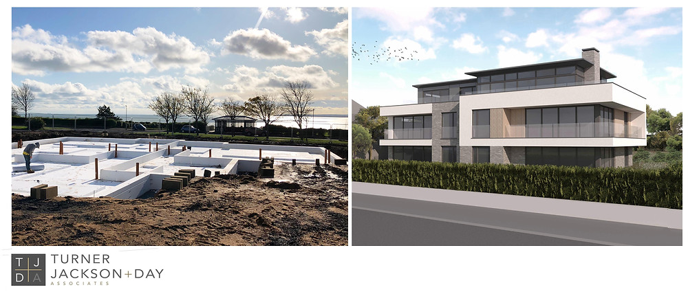 design for contemporary apartment development on the Westcliff in Ramsgate
