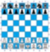 La posizione iniziale nella partita di scacchi.
