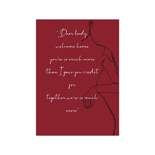 Dear Body -Lyric Card