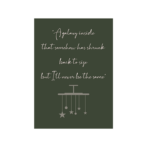 Never Be The Same - Lyric Card (baby)