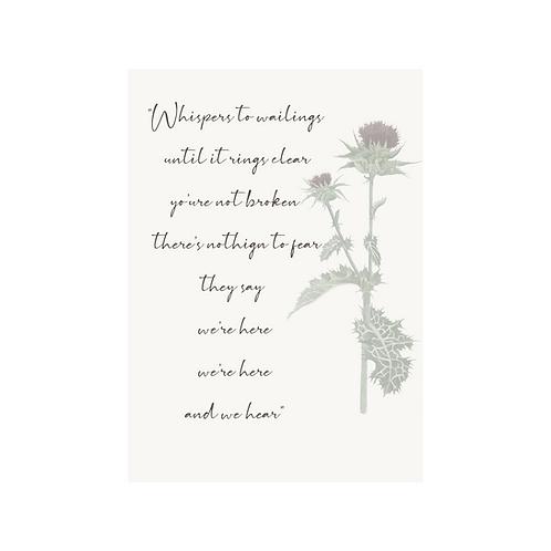 The Gathering -Lyric Card