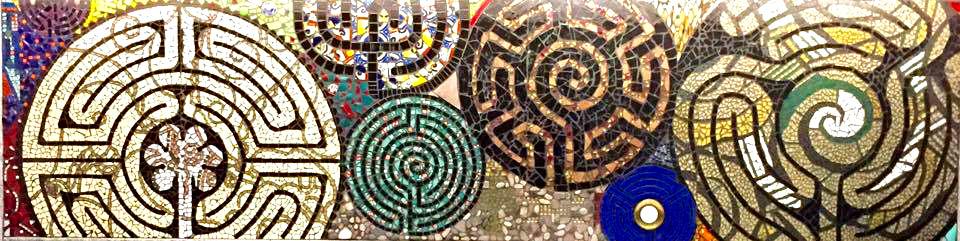 Mosaic Labyrinth Mural