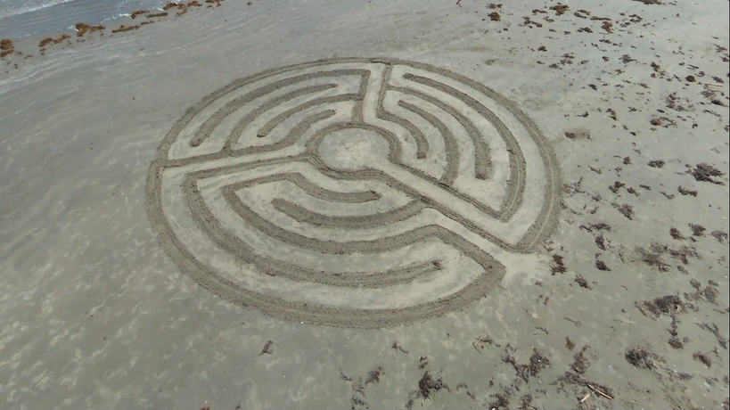 5 circuit Beach Labyrinth