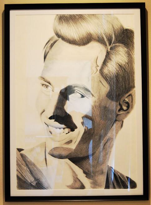 Graphite Portrait of Aga Khan