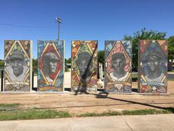 Mosaic Baseball Tribute Mural