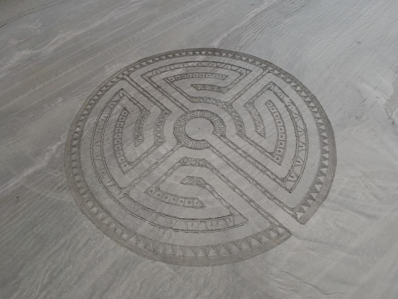 5 Circuit Beach Mandala Labyrinth