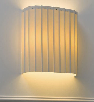 Wide Drum Wall Light