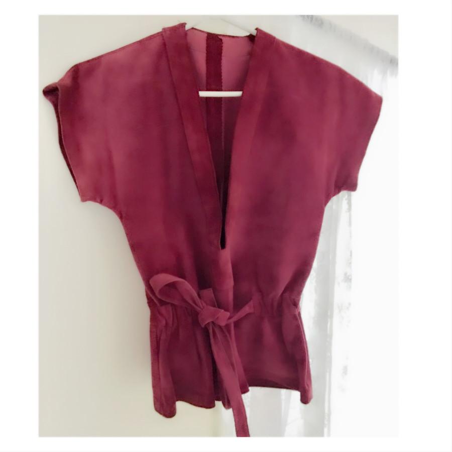חולצה מז'מש בצבע בורדו
