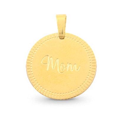 'Mom' ketting goud