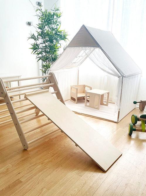 Klimrek driehoek met ladder