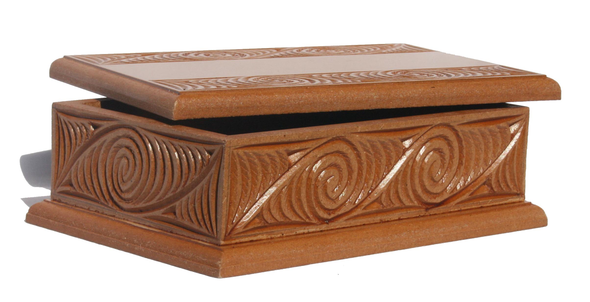 Medium carved box