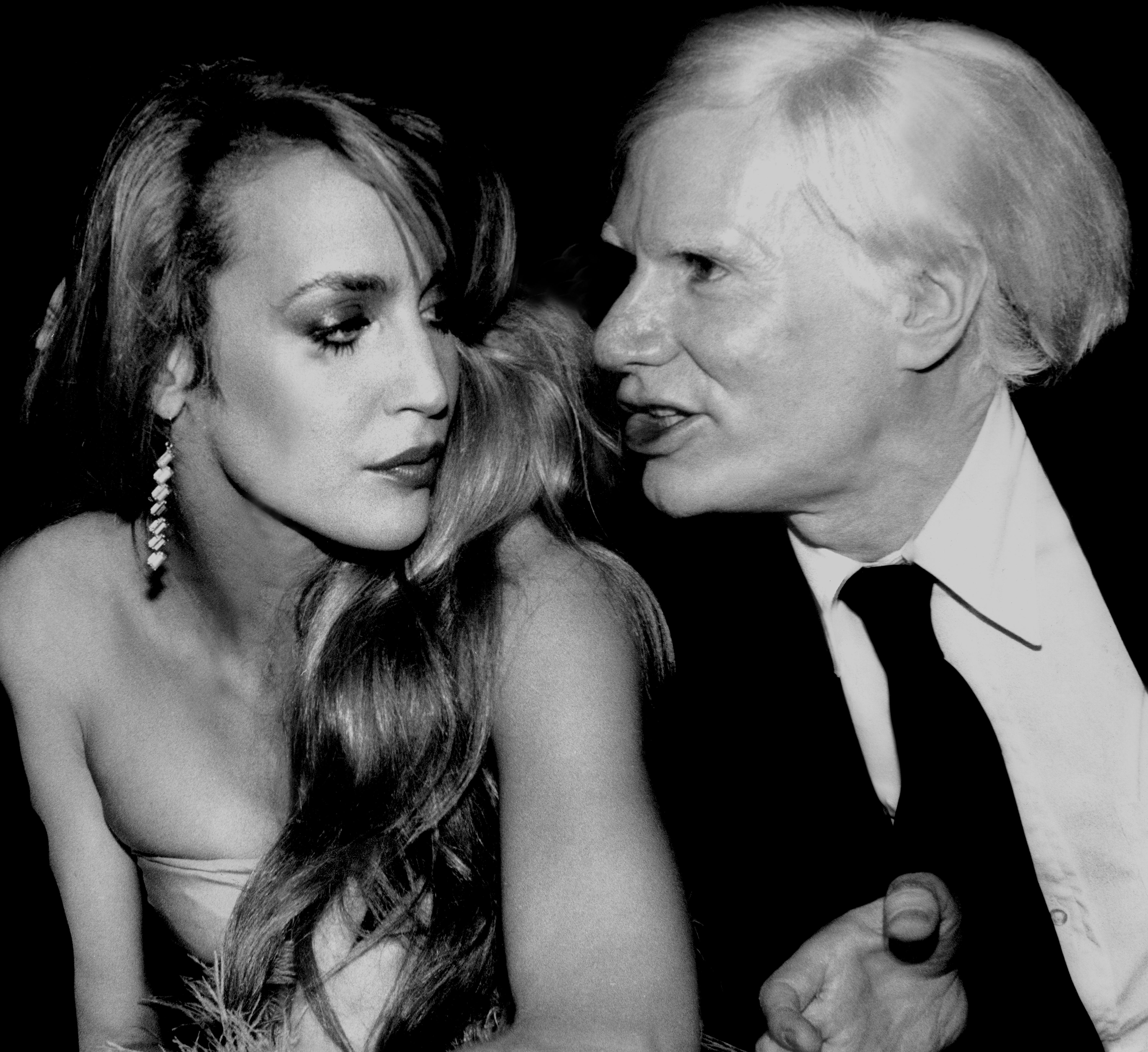 Jerry Hall & Andy Warhol