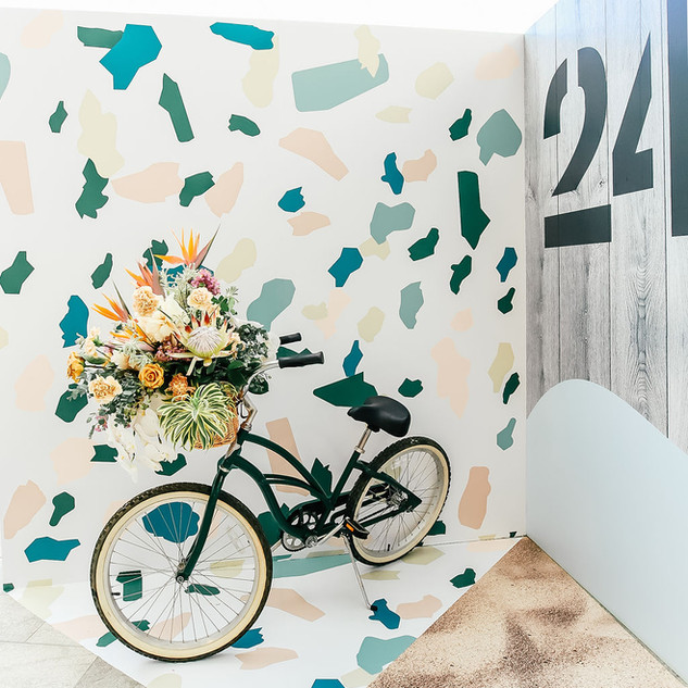 Bicycle Installation Flowers