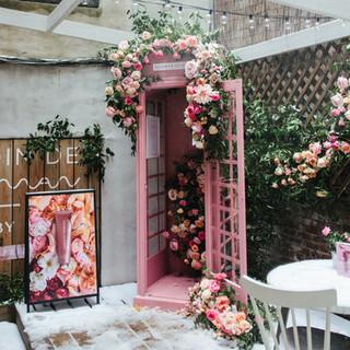 Phone Booth Flower Installation