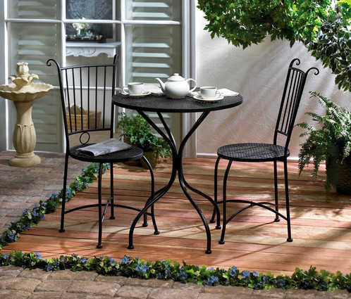 Dine in style with this lovely patio set! Enjoy breakfast lounging in the  morning sun or afternoon tea in the garden with this comfortable and  attractive ... - Patio Bistro Set Website