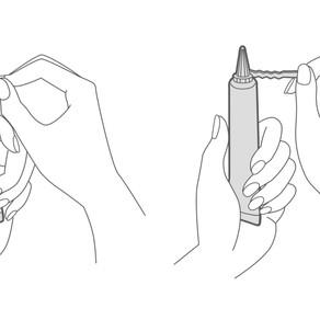 株式会社オキナ「ハンドジェル」「マウスウォッシュ」の説明イラストを描きました
