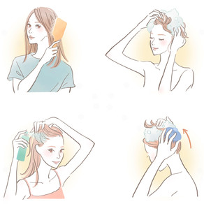 リクルート ホットペッパー ビューティー11月号「40代から大切にしたい頭皮環境ケア」の挿絵を描きました。