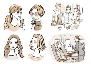 美的2月号 ANA「賢い人が選ぶのは機内販売コスメ」挿絵