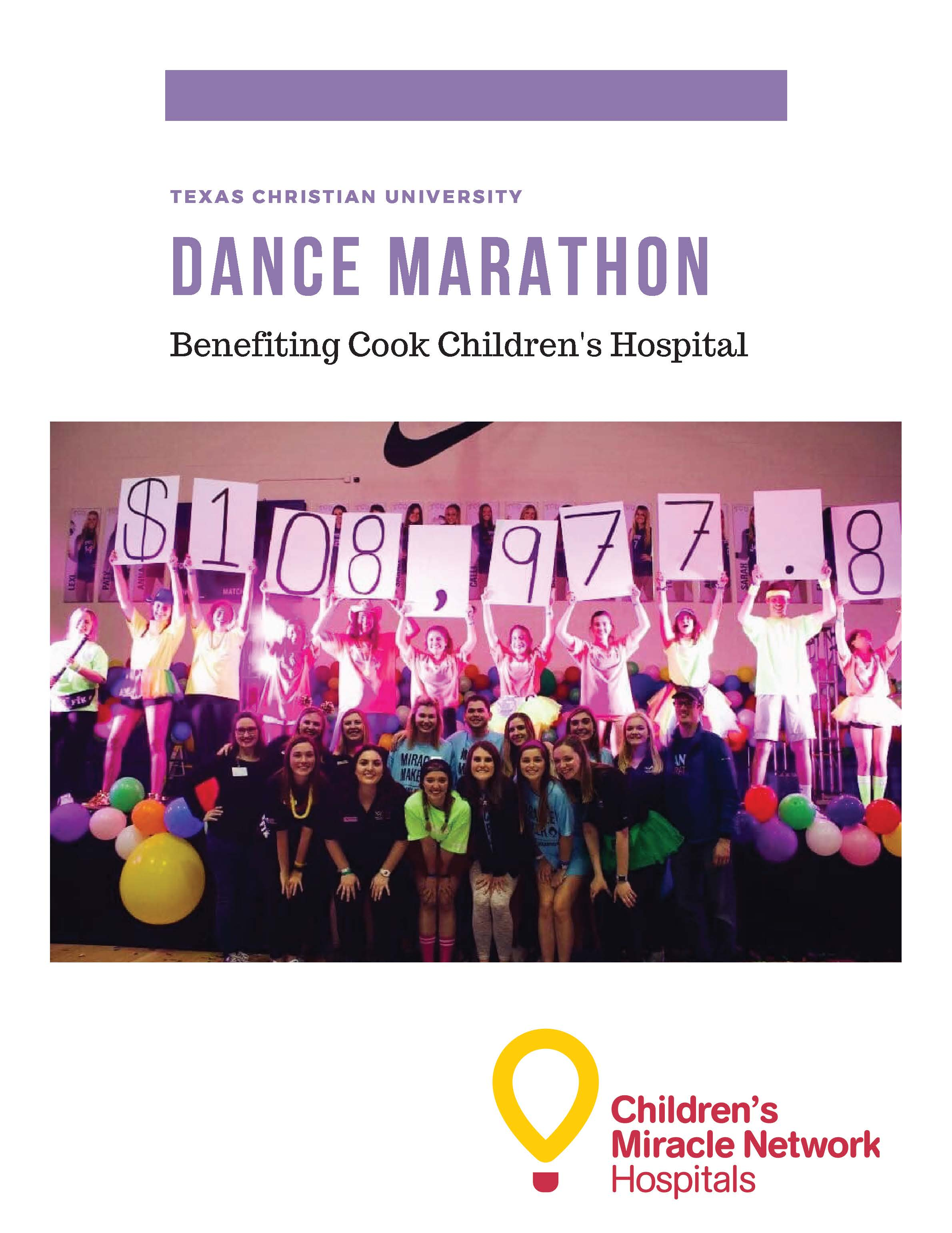 Dance Marathon Sponsorship Packet Images