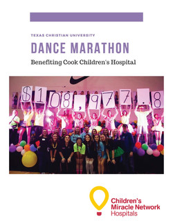 Dance Marathon Sponsorship Packet Images