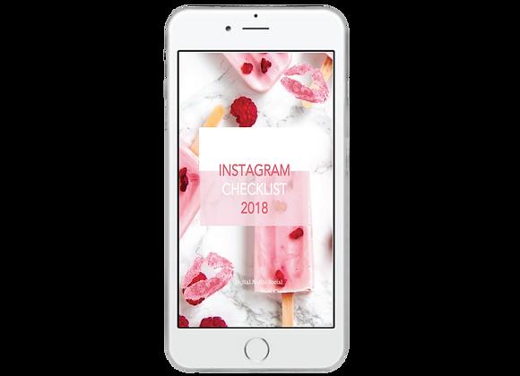 Irresistible Instagram Checklist 2018