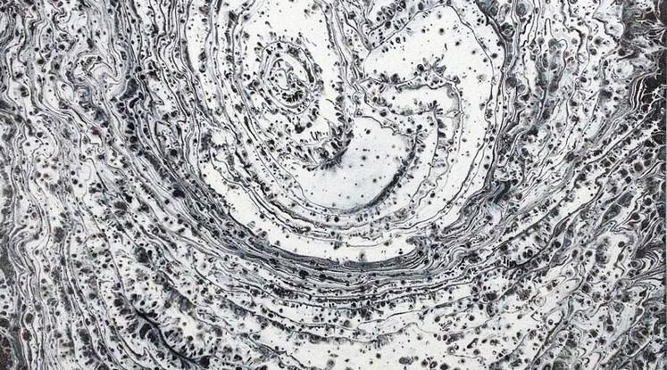 Silvère Jarrosson, Coma 1, acrylique et vernis sur toile, 2014, 50x50 cm