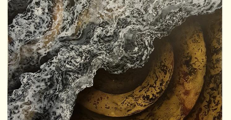 Maxence Doré, Folie Petroliere 25 (2018), Peinture à L'huile - Aerosol, 81cm x 116cm