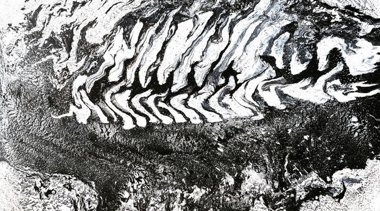 Silvère Jarrosson, Cryptique 5, acrylique et vernis sur toile, 2015, 100x73 cm