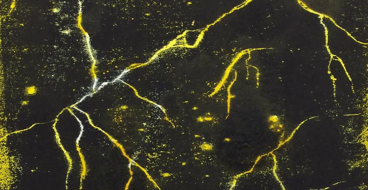Tony Jouanneau, AstroCran n°3 (série Constellations), 2015, gravure sur bois, 22 x 22 cm