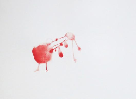 Zieu Zhou, Sans titre, 2016, Encre de chine et crayon sur papier, 24 x 32 cm