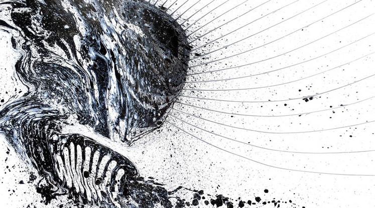 Silvère Jarrosson, Crypique 13, acrylique sur toile, 2015, 120x100 cm